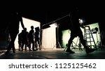 behind the scenes of tv... | Shutterstock . vector #1125125462