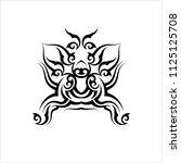 tribal armband tattoo design... | Shutterstock .eps vector #1125125708