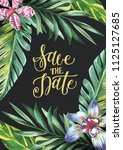 save the date    card ... | Shutterstock . vector #1125127685