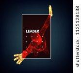 leadership concept. jumping man.... | Shutterstock .eps vector #1125128138