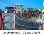 colorful old houses seen in... | Shutterstock . vector #1125129545