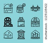 outline buildings icon set such ... | Shutterstock .eps vector #1125135422