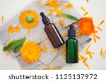 marigold or calendula essential ... | Shutterstock . vector #1125137972