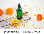 marigold or calendula essential ... | Shutterstock . vector #1125137975