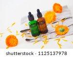 marigold or calendula essential ... | Shutterstock . vector #1125137978