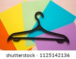 on a colored background is a... | Shutterstock . vector #1125142136