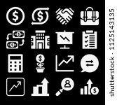 filled business icon set such... | Shutterstock .eps vector #1125143135