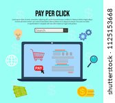 pay per click internet... | Shutterstock .eps vector #1125153668