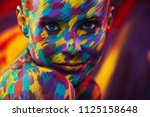 portrait of the bright... | Shutterstock . vector #1125158648