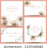 watercolor flowers blossom card ... | Shutterstock .eps vector #1125160682