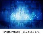3d rendering stock market... | Shutterstock . vector #1125163178