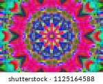 illustration of mosaic images ... | Shutterstock . vector #1125164588