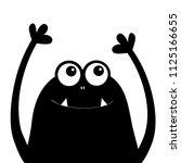 monster head silhouette. two...   Shutterstock .eps vector #1125166655