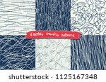set of 6 sketchy white and dark ...   Shutterstock .eps vector #1125167348
