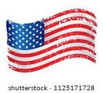 waving american flag.usa flag... | Shutterstock .eps vector #1125171728