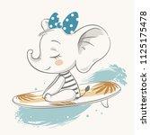 vector illustration of a cute...   Shutterstock .eps vector #1125175478