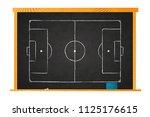 white chalk football field plan ... | Shutterstock . vector #1125176615