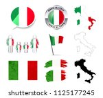 large set of italy infographics ... | Shutterstock . vector #1125177245