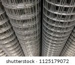 steel wire mesh material for... | Shutterstock . vector #1125179072