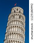 campanile  leaning tower of... | Shutterstock . vector #1125180992
