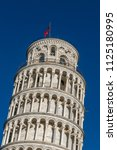 campanile  leaning tower of... | Shutterstock . vector #1125180995