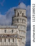 campanile  leaning tower of... | Shutterstock . vector #1125188012