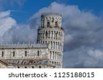 campanile  leaning tower of... | Shutterstock . vector #1125188015