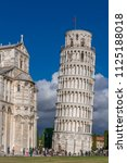 campanile  leaning tower of... | Shutterstock . vector #1125188018