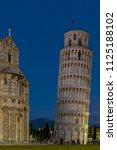 campanile  leaning tower of... | Shutterstock . vector #1125188102