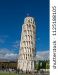 campanile  leaning tower of... | Shutterstock . vector #1125188105