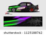 car decal design vector.... | Shutterstock .eps vector #1125188762