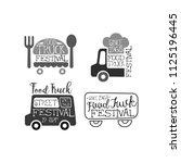 set of monochrome emblems for... | Shutterstock .eps vector #1125196445