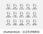 set of minimal people vector. | Shutterstock .eps vector #1125198842