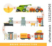 stages of production of bread ... | Shutterstock .eps vector #1125210905