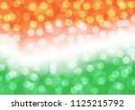 abstract bokeh blue on orange... | Shutterstock .eps vector #1125215792