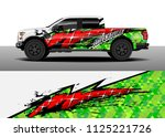 truck and car decal wrap vector ...   Shutterstock .eps vector #1125221726