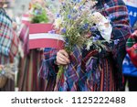 national latvian elements and... | Shutterstock . vector #1125222488