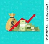 profit money or budget... | Shutterstock . vector #1125223625