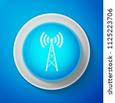 white antenna icon isolated on...   Shutterstock . vector #1125223706