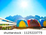 landscape mountain and forest... | Shutterstock . vector #1125223775