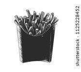 vector engraved style... | Shutterstock .eps vector #1125228452