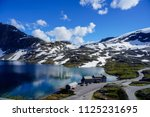 beautiful countryside in norway | Shutterstock . vector #1125231695