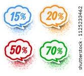 speech bubble set white... | Shutterstock .eps vector #1125233462