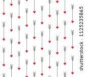 love arrows seamless pattern.... | Shutterstock .eps vector #1125235865