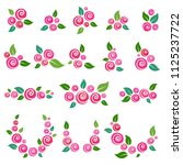 collection of floral elements... | Shutterstock . vector #1125237722