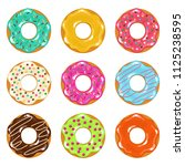collection of colored realistic ... | Shutterstock . vector #1125238595