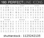180 modern thin line icons set... | Shutterstock . vector #1125242135