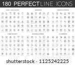 180 modern thin line icons set... | Shutterstock . vector #1125242225