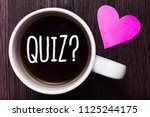 handwriting text quiz question. ... | Shutterstock . vector #1125244175