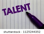text sign showing talent.... | Shutterstock . vector #1125244352